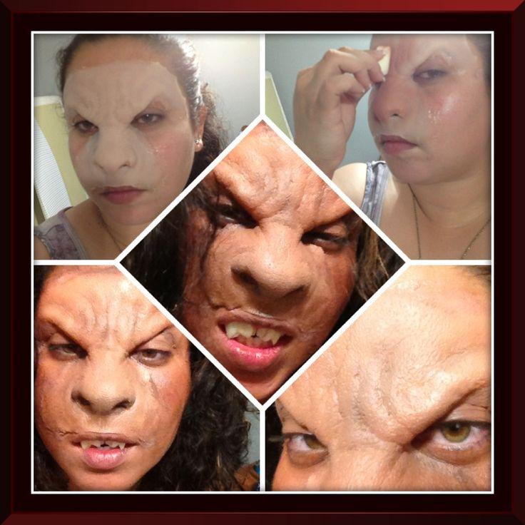 Werewolf girl makeup. Love prosthetics!