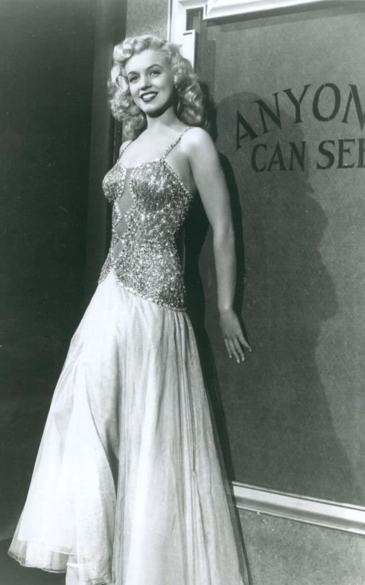 """Marilyn in costume as Peggy Martin for her 3rd feature film """"Ladies of the Chorus"""" This was in 1948 and she was only 22 years old."""
