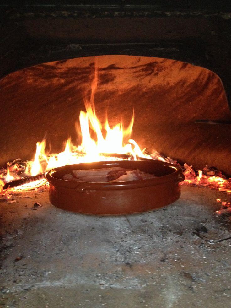Cocinando en mi horno de le a cocinas pinterest - Hornos de lena prefabricados ...