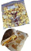 Camping breakfast burrito