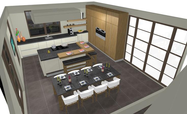 Indeling keuken woonkamer for Beste 3d keukenplanner