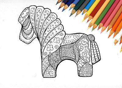 Sono felice di condividere l'ultimo arrivato nel mio negozio #etsy: Cavallo da colorare stampabile bambini adulti cavallino pony mandala zentangle fattoria campagna natura animale illustrazione libro stampa http://etsy.me/2CqyWGl #arte #disegno #nero #disegnodacolorare