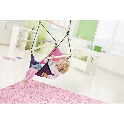 AZ 2030486 - Poltrona sospesa per bambini - per interni e esterni - Kid's Swinger Pink - Amazonas Baby - foto interni