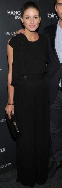 Who made Olivia Palermo's black jumpsuit, clutch and jewelry that she wore on May 23, 2011? Jumpsuit – Whistles  Purse – 1971 Reiss  Bracelet – CC Skye