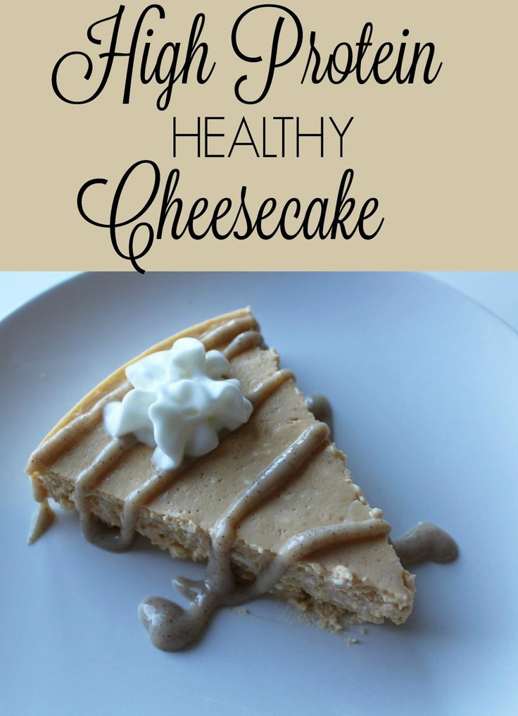 High protein pumpkin cheesecake with a snickerdoodle protein icing is a super low calorie dessert with over 20 grams of protein per serving!