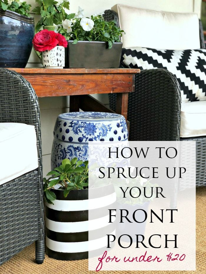 Six Spring Front Porch Ideas To Decorate On A Budget Front Porch Decorating Front Porch Makeover Front Porch Seating,French Country Cottage Decorating Ideas