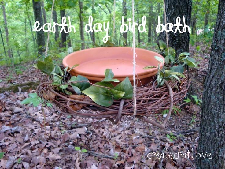 Earth Day Bird Bath Bird Feeder Craft And Daisy Girl Scouts