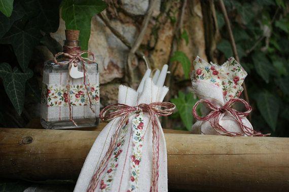 Συλλογή Βάπτισης Country Bird  #Σετ Για Λάδι - Σαπούνι #Λαδοσέτ  #Baptism/Christening Oil Set #Ladoset #Set of Three Candles, Oil Bottle, Soap #Baptismal Candle Set #Greek Orthodox Baptism #Country Bird Baptism Set
