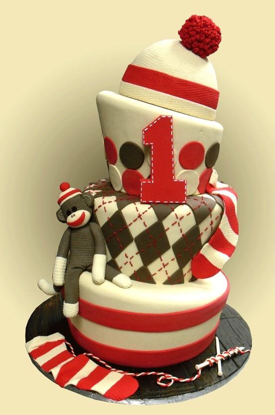 Sock Monkey Cake...yay!!