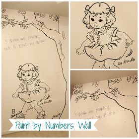 Bella Caiden: Paint By Numbers Wall and homemade projector