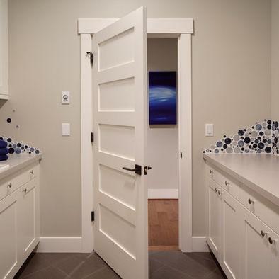 Craftsman door and trim bedroom door cottage style for Cottage style interior trim