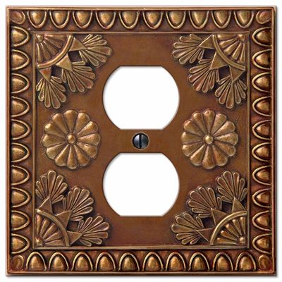 amiens copper resin 1 duplex outlet wallplate