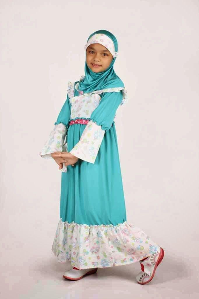 Model Baju Muslim Lebaran Anak Perempuan Terbaru