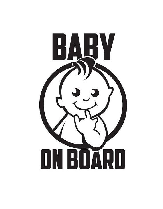 Baby on board  Vinyl stickers  Stickers for cars  by GayaDesign