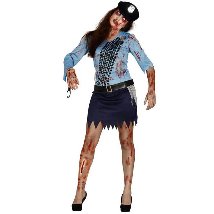 Disfraz de policía zombie para mujer
