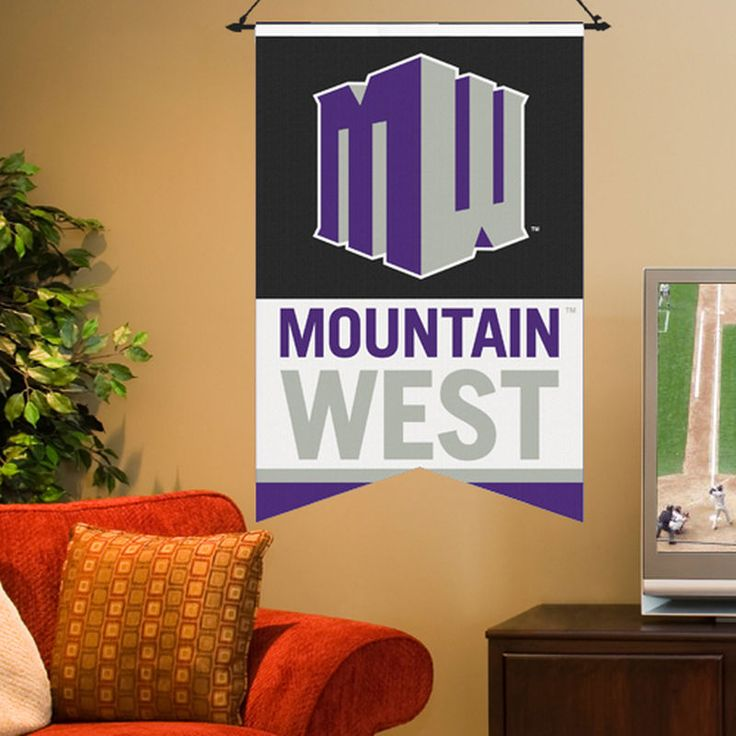 """Mountain West Conference 17"""" x 26"""" Premium One-Sided Banner"""