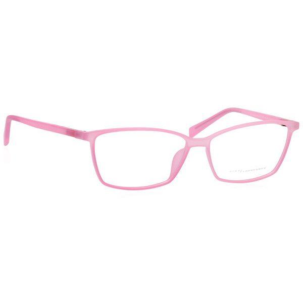 Italia Independent II 5571 I-PLASTIK 016/000 Eyeglasses ($200) ❤ liked on Polyvore featuring accessories, eyewear, eyeglasses, pink, pink eyeglasses, plastic lens glasses, italia independent eyewear, lens glasses and italia independent