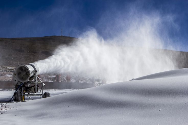 Snow cannons @Afriski Mountain Resort Mountain Resort working full time to cover the slopes #Lesotho #snow #Africa