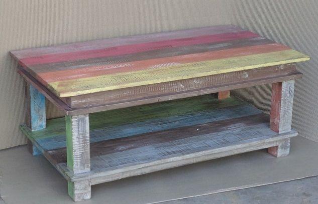 """""""Coffee table with Shelf"""" χειροποίητο τραπέζι"""