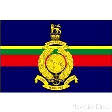 Royal Marine Flag 5ft x 3ft (100% Polyester) With Eyelets For Hanging. http://www.novelties-direct.co.uk/royal-marine-flag-5ft-x-3ft-100-polyester-with-eyelets-for-hanging.html