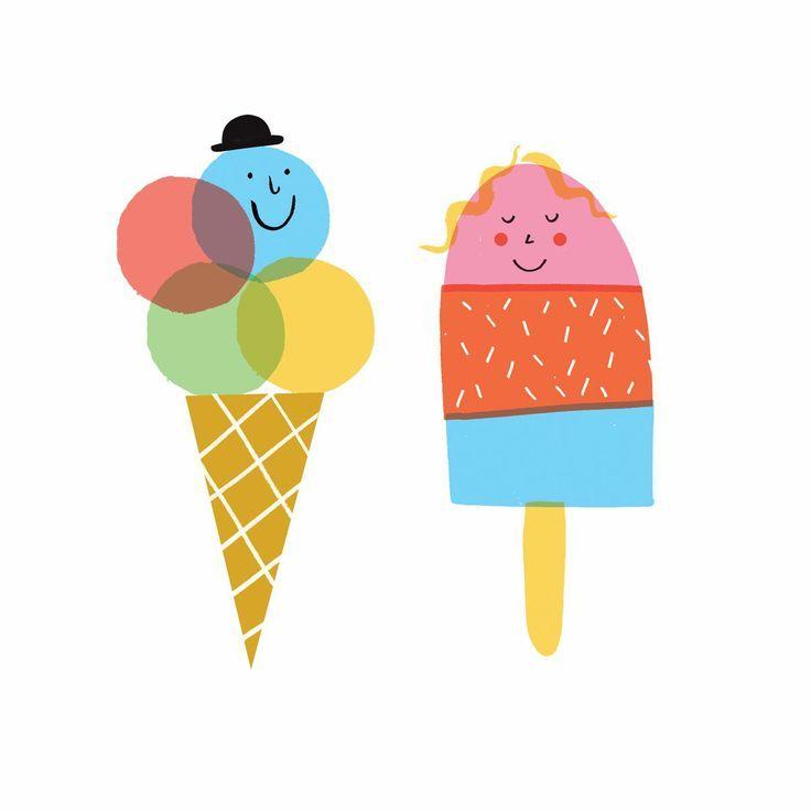 Рисунки смешное мороженое