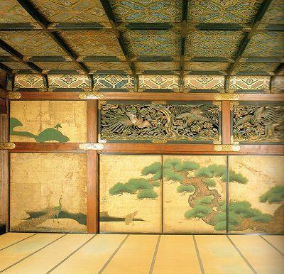 Fusuma painting in Nijo Castle at Kyoto
