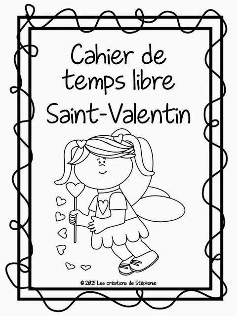 Les créations de Stéphanie: Cahier de temps libre pour la fête de la Saint-Valentin