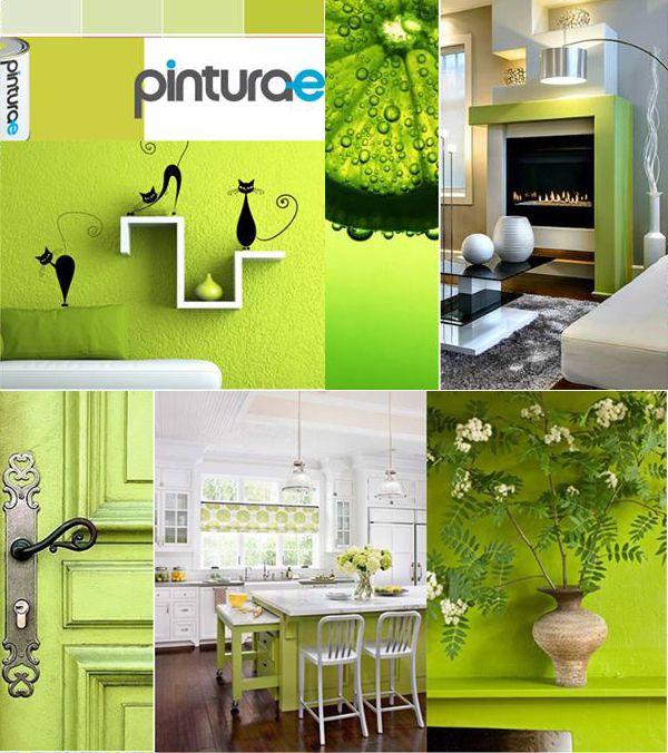 Verde lima verano y luz blog pinturae pinterest - Pintura pared verde ...