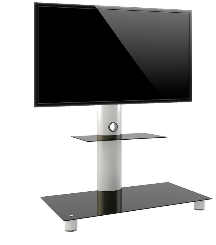 """VCM 14225 TV-Standfuss """"Standol mit Zwischenboden"""" LED Ständer Rack, aluminium / glas: Amazon.de: Elektronik"""