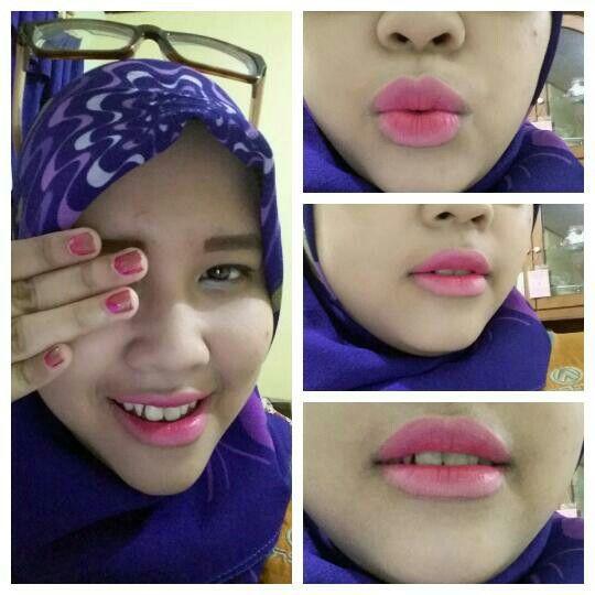 "I Love ombre lips ""pink lover"" natural makeup officelookmakeup"