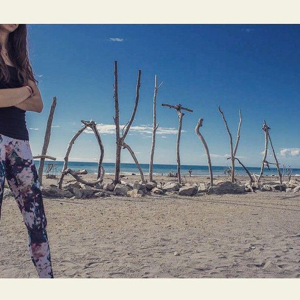 Hokitika Beach, Hokitika, New Zealand - What a fun driftwood-y way...