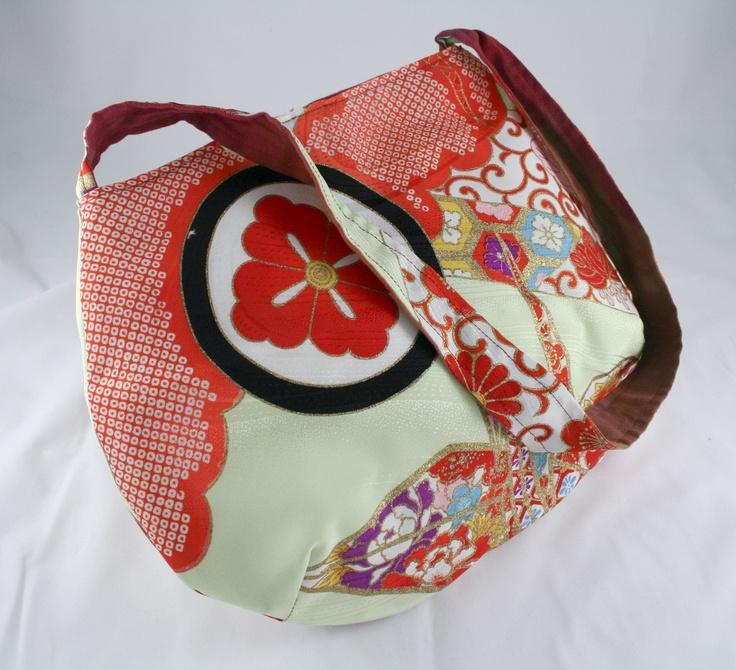 Japanese kimono bag. $60.00, via Etsy.