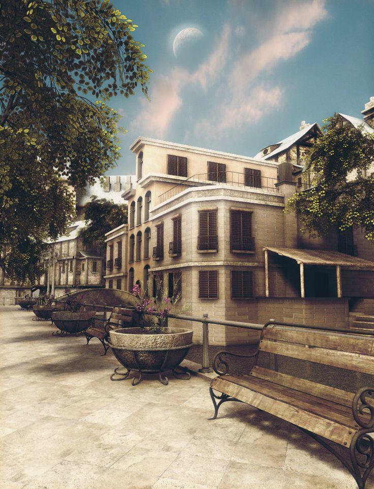 Venice Buildings, zoltan miklosi on ArtStation at https://www.artstation.com/artwork/52bDE