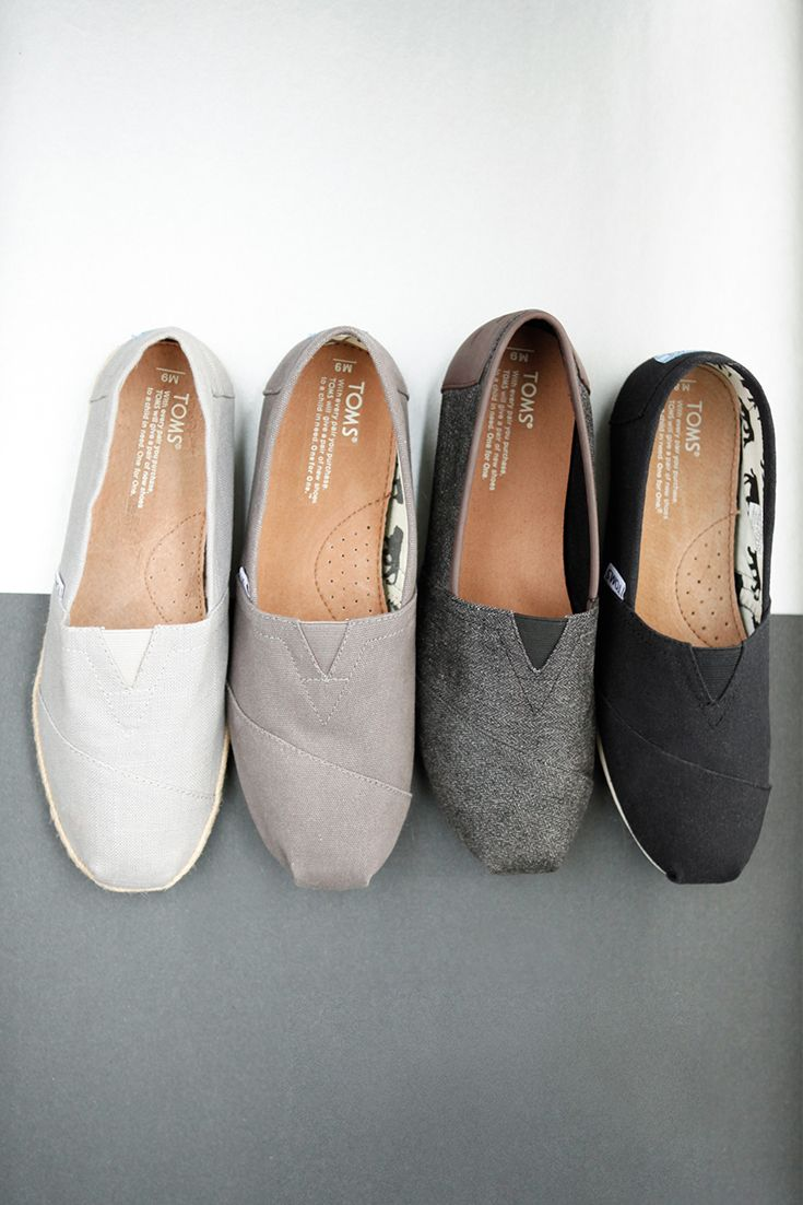 Click to shop TOMS Classics slip-on shoes for men in many shades, textures and prints.