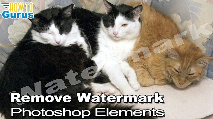 How to use elements to remove a watermark from a