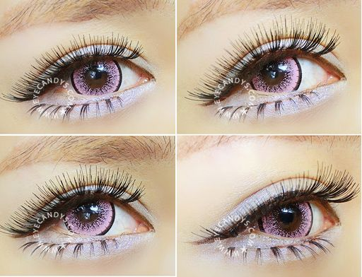 how to put colored contact lenses in your eyes