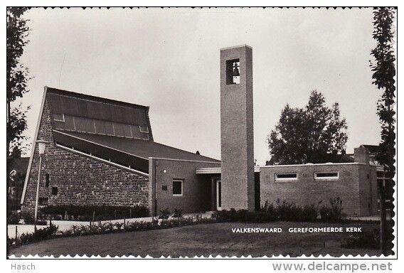 Valkenswaard - oude postkaart - ansichtkaart vroeger / gereformeerde kerk