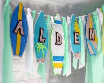 Navegar por bebé ducha Banner Banner fiesta de tabla de surf