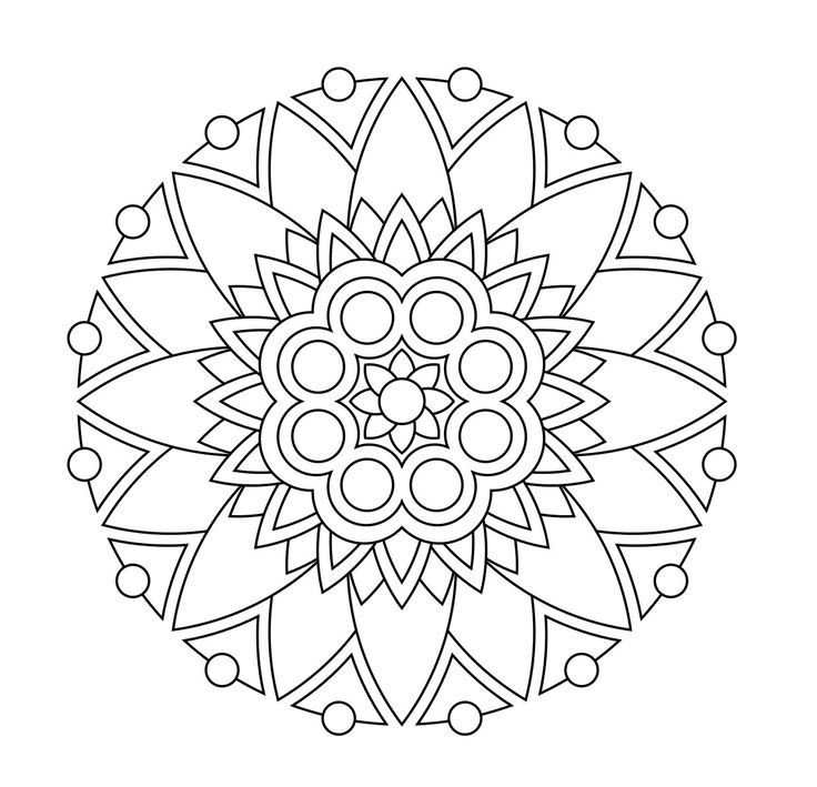 29 best Mandalas images on Pinterest Coloring books Drawings