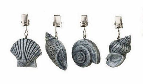Shell shaped weights maintain an attractive appearance.