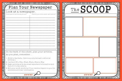 Week 30 LANG ARTS: Read All Over: A free template to create family newspapers. Great for classroom use as well!