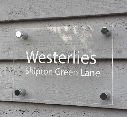 Acrylic House Name Sign by Leonora Hammond
