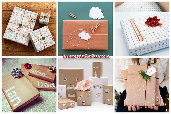 67 ideas para envolver regalos de forma original diy - Decorar regalos de navidad ...