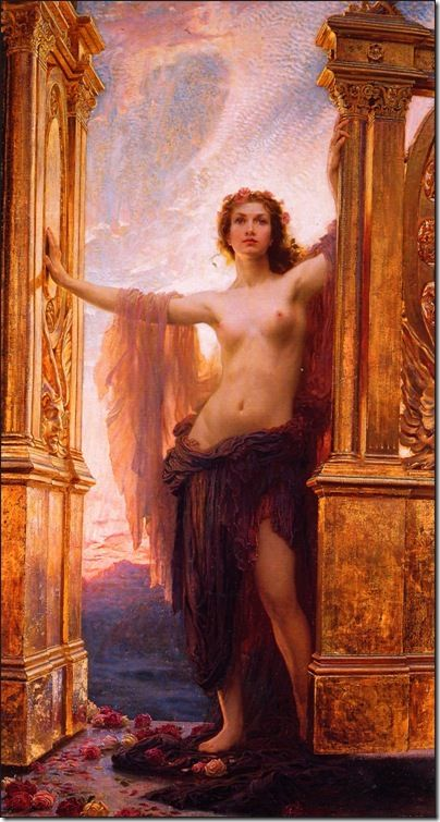 (Symbol #23-Air-Dew) Aurora- Goddess of Dawn ( The Gates of Dawn by Herbert Draper)