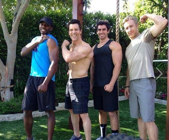 backyard workout with tony horton and friends malachi  sean and keith