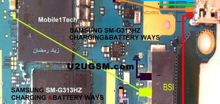 Samsung Galaxy J7 Prime Battery Connector Terminal Jumper Ways