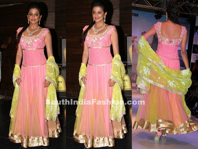 Priyamani in Pink Anarkali~Latest Blouse Designs 2014~South India Fashion