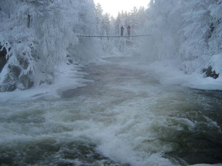 Oulanka National Park at Eastern Finland.