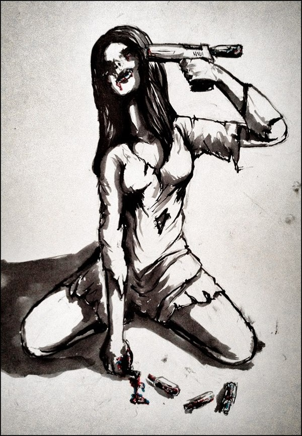 Ink addicted by Jonas Wüllner, via Behance #ink #artwork