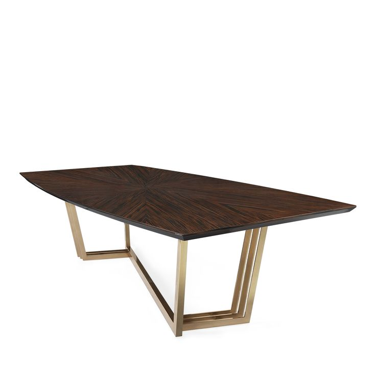 D'Arc Dining Table - Dining Room Decor - Laskasas | Decorate your Life | Inspired by Joanna D'Arc, the great French warrior, D'Arc dining table is a solid wood dining table that resembles the brown armor as well as the gold details pay tribute to the sword of the heroine. All materials are customizable making it possible to fit any décor. A stunning interior design piece that can stand out in every interior design. | www.laskasas.com and discover more interior design inspirations